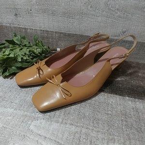 Naturalizer Shoes - Nauturalizer square toe sling back heels 8.5 N